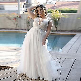 كاب كم فستان الزفاف خط