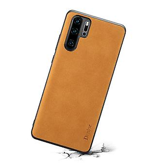 Wallet leather case card slot for huawei p30pro brown no76