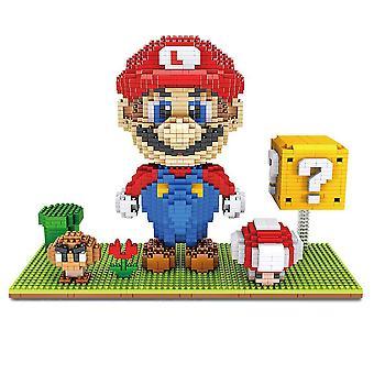 New Super Mario Building Blocks Puzzle Micro 3d Figures Educational Brick Toys ES7515