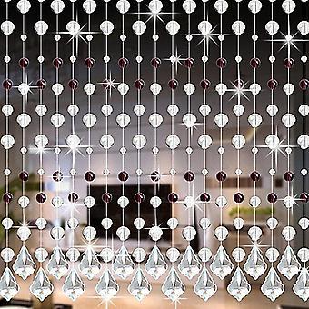 Kristalli lasinen bead talutushihna verho