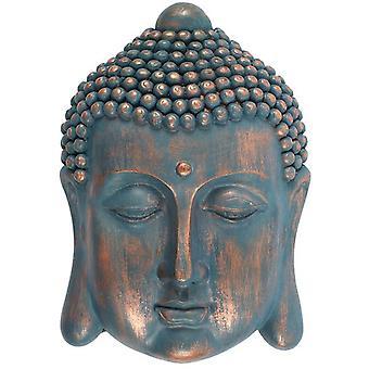 Blauer Buddha Kopf Plaque