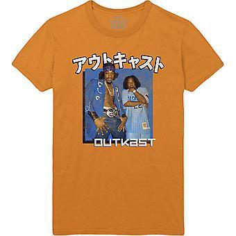 Outkast - Blue Box Unisex Large T-Shirt - Orange