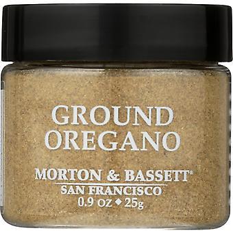 Morton & Bassett Seasoning Oregano Ground, Case of 3 X 0.9 Oz