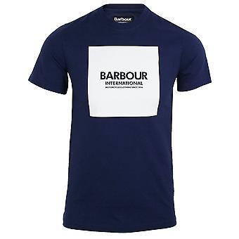 Barbour international men's regal blue block logo t-shirt