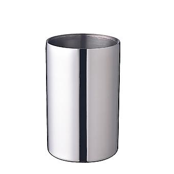 Stainless Steel Portable Ice Bucket, Double Walled Insulated Cooler for Parties