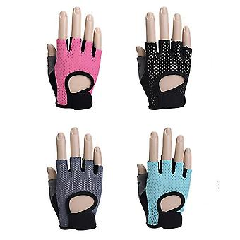 Fitness Half-finger Gloves Female Training Gym Dumbbell Yoga Non-slip Sports Cycling Butterfly Mesh Breathable Thin Section