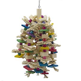 Großer Papagei Kauspielzeug - Vogelpapagei blockiert Knoten reißen Spielzeug Vogelkäfig Biss Spielzeug für afrikanische Grauaras Kakadus