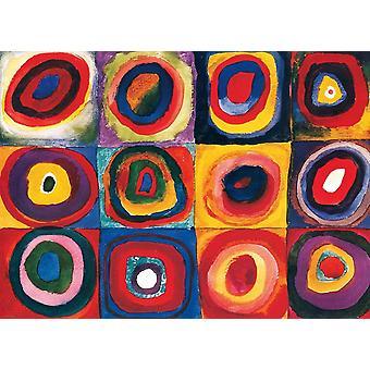 Eurographics Colour Study of Squares, Kandinsky Jigsaw Puzzle (1000 Pièces)