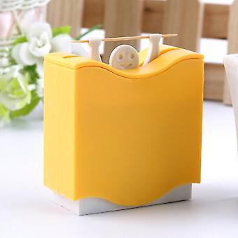 Weight Lifter Automatic Toothpick Holder Bucket Home Bar Table Accessories