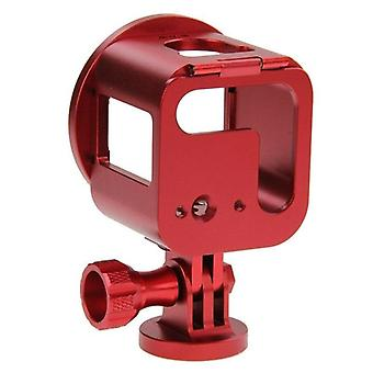 PU160 Housing Shell CNC Aluminum Alloy Protective Cage Kit for GoPro HERO5 S HERO4 S red