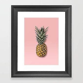 Aikakauslehdet sanomalehdet ananas vektori kehys