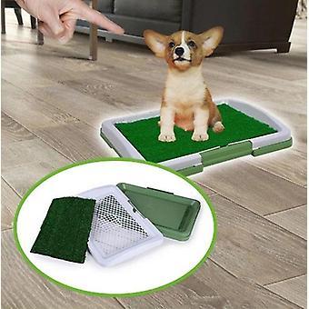 Estera de baño de césped artificial para cachorros y mascotas pequeñas