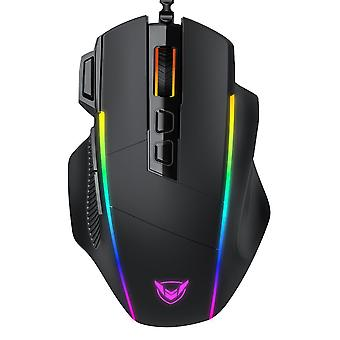 Gaming mouse wired ergonomic mice with 8000dpi 8 programmable buttons rgb backlit for pc gamer computer mouse