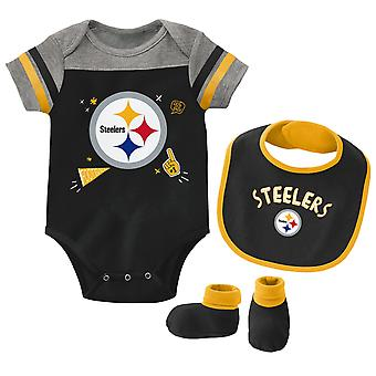 NFL Baby Bib & Bootie Set - Pittsburgh Steelers