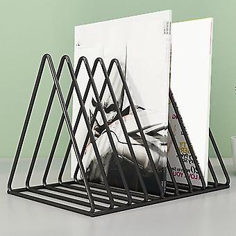 Vinyl Record CD Magazine Storage Rack Album Display Rack Multifunctional Vertical Creative
