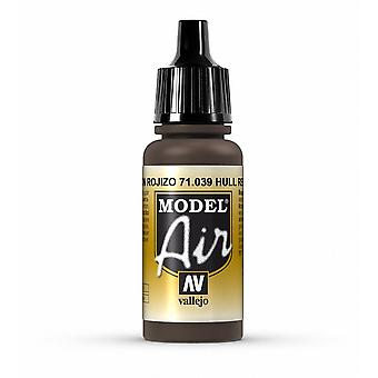 Vallejo Model Air 39 Hull Red - 17ml Acrylic Airbrush Paint