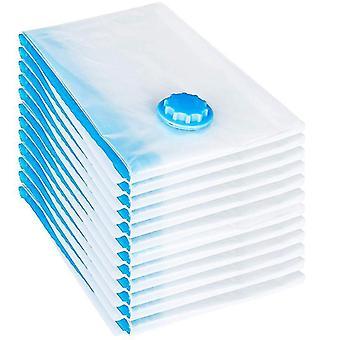 12 Stk Set Vakuumbeutel 60x40 cm Aufbewahrungsack Vakuumbeutel (blau)