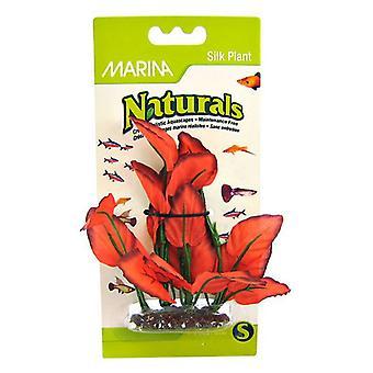 """Marina Silk Akvarijní rostlina - červená - střední (6"""" vysoká)"""