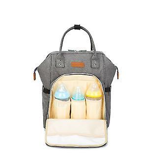 Geschikt voor kinderwagens en reizen, 15 zakken van verwisselbare luiertas (grijs)