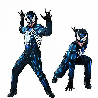 Halloween Venom Muscle Costume For Kid Boy Jumpsuit Cosplay Carnival Outfit