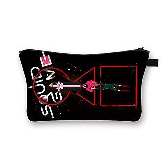 الحبار لعبة مستحضرات التجميل حقيبة كبيرة قدرة مخلب حقيبة سيدة السفر حقيبة تخزين البوليستر المطبوعة