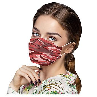 15st Unisex Vuxen Kamouflage Print Utomhusmask Skyddande Engångs ansiktsmask