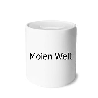 Hello World Luxembourg Print Keramik Sparschwein