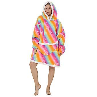 Blanket Sweatshirt,oversized Flannel Hoodie Wearable Blanket For Adults Men Women Teens Friends