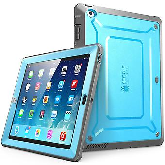 iPad 4 Case, SUPCASE, Apple iPad caso Unicorn Beetle Pro Series, caso di copertura con Screen Protector-blu/nero
