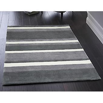 Boston Stripe Grey  Rectangle Rugs Plain/Nearly Plain Rugs
