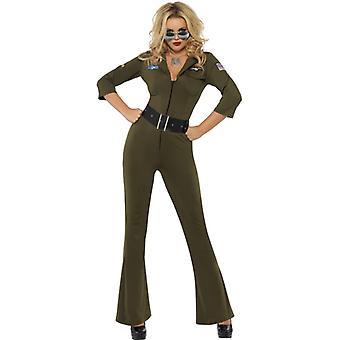 Top Gun Pilotin Damen Kostüm