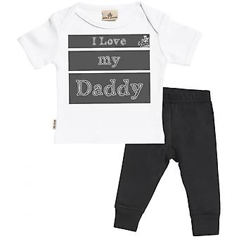 Spoilt Rotten I Love My Daddy Baby T-Shirt & Baby Jersey Trousers Outfit Set