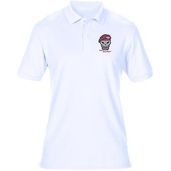 Regimento de para-quedas boina marrom bordado logotipo - Mens Polo camisa