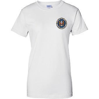 National Security Agency - NSA - Agence d'espionnage américaine - militaire - dames poitrine Design T-Shirt