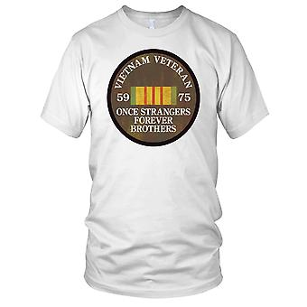 Vietnamkriget Veteran 59-75 när främlingar Grunge effekt damer T Shirt