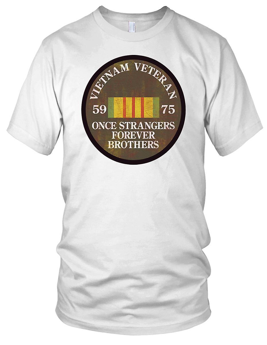 Vietnam-krigsveteran 59-75 når fremmede Grunge effekt damer T skjorte