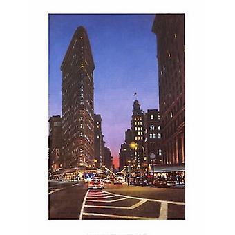Flatiron bei Abenddämmerung Poster Print von Garin Baker (15 x 19)