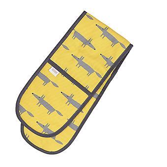 Scion heer Fox dubbele Oven handschoen, geel