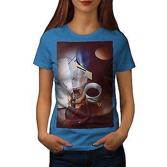 Morning Coffee Art Music Women Royal BlueT-shirt | Wellcoda