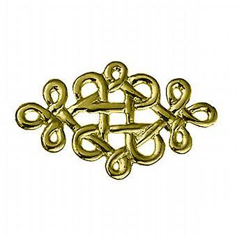 9ct Gold 20x32mm Keltische knoop ontwerp Broche
