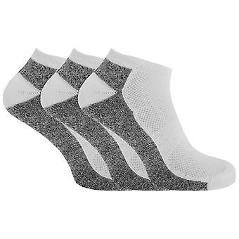Herren Cotton Rich Sport Trainer Socken mit Mesh und Riffelung (Packung mit 3)