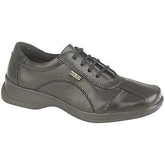 Cotswold damer Icomb läder vattentät avslappnad Oxford sko svart