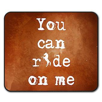 Ride Me Offensive Funny  Non-Slip Mouse Mat Pad 24cm x 20cm | Wellcoda