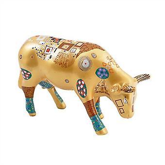 Cow Parade Climbs Kow (medium ceramic)