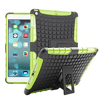Hybrid Outdoor Schutzhülle Case Grün für Apple iPad Air Tasche