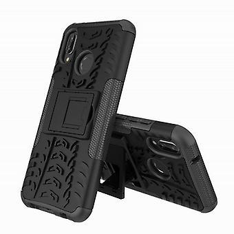 Per Huawei Lite P20 ibrido cassa 2 pezzo SWL all'aperto borsa custodia nera manica copertura protezione
