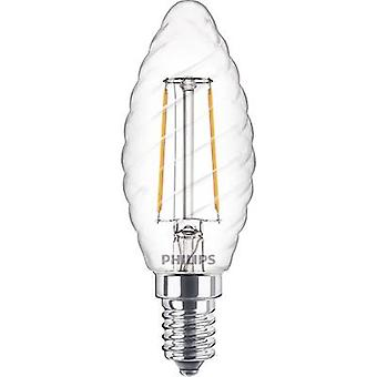 Philips Lighting LED (monocromático) EEC A++ (A++ - E) E14 Candle twisted 2 W = 25 W Warm white (Ø x L) 35 mm x 97 mm Filament 1 pc(s)