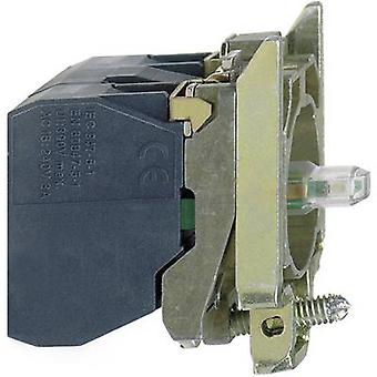 Schneider Electric ZB4BW0B11 Auxiliary switch , LED + fixing adapter, + bulb holder 1 maker White momentary 24 V DC, 24 V AC 1 pc(s)