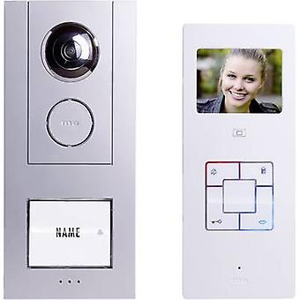 m-e modern-electronics Vistus VD6310 Video door intercom Corded Complete kit Detached Silver, White