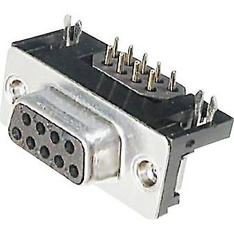 ASSMANN WSW A-DF 09 A/KG-F D-SUB receptacles 90 ° Number of pins: 9 Soldering 1 pc(s)